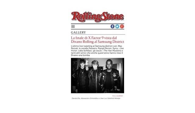 IL DIVANO ROLLING / FINALE XFACTOR9