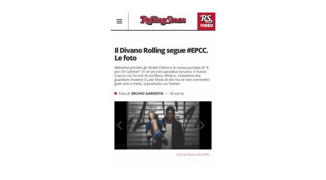 IL DIVANO ROLLING / E POI C'E CATTELAN
